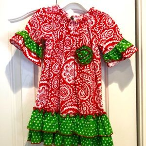 24 month Red/Green dress